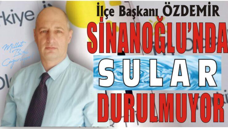 """Özdemir: """"4 aydır başlanmayan yeni şebeke su hattı bir türlü hayata geçirilememiştir"""""""