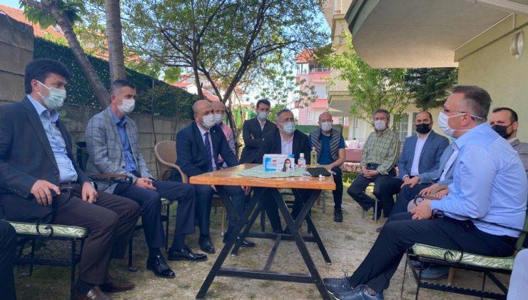 Dikbayır ve Kılıçaslan'ın Başkan Soykan ve Başkan Işıksu'ya taziye ziyaretleri