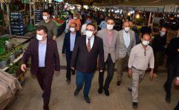 Kaymakamımız Sayın Dr. Ahmet Naci HELVACI Pazar Yeri Denetimlerine Katıldı