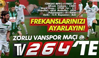 Sakaryaspor-Vanspor maçı canlı yayınla TV264'te izle