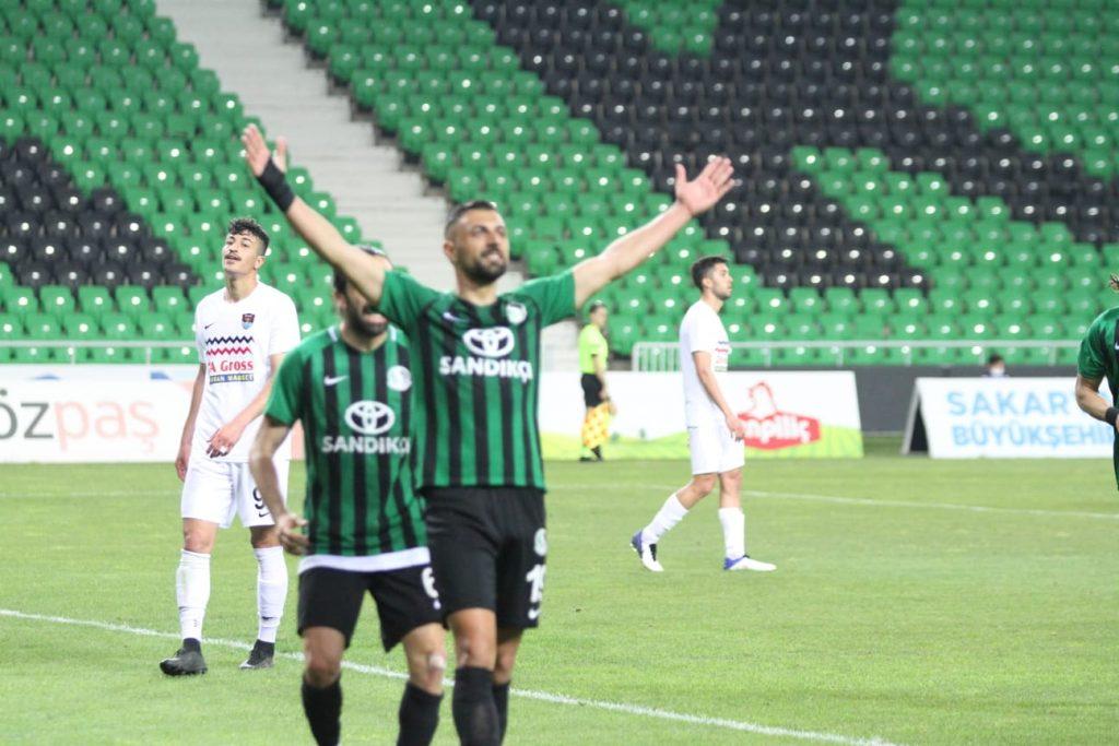 SAKARYASPOR-VANSPOR:2-0 maç sonucu