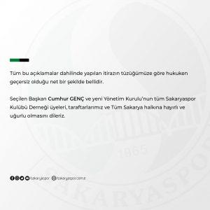 Sakaryaspor'dan flaş kongre açıklaması!