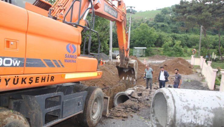 Karanlıkdere Mahallesi'nin yağmursuyu sorununu SASKİ çözüme kavuşturdu
