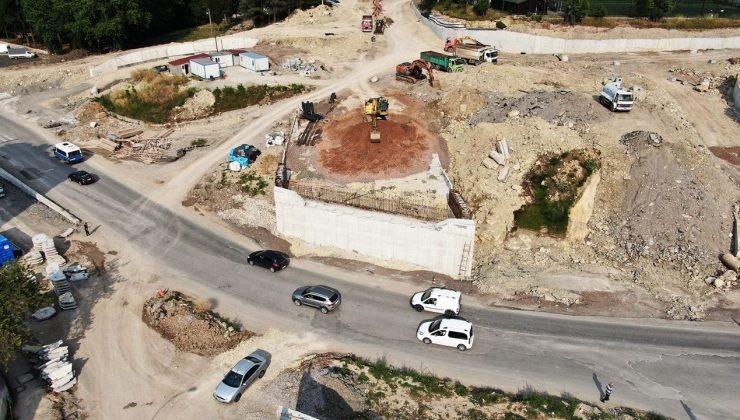 Bu proje şehir trafiğine nefes aldıracak  SGK Köprülü Kavşağı yüzde 60 seviyesine ulaştı