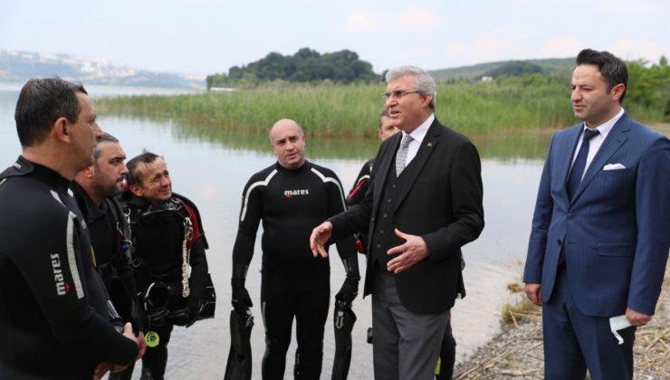 """Yüce, Sapanca Gölü'ndeki son durumu paylaşıp bu çağrıyı yaptı:  """"İçme suyu mirasımızı birlikte koruyalım"""""""