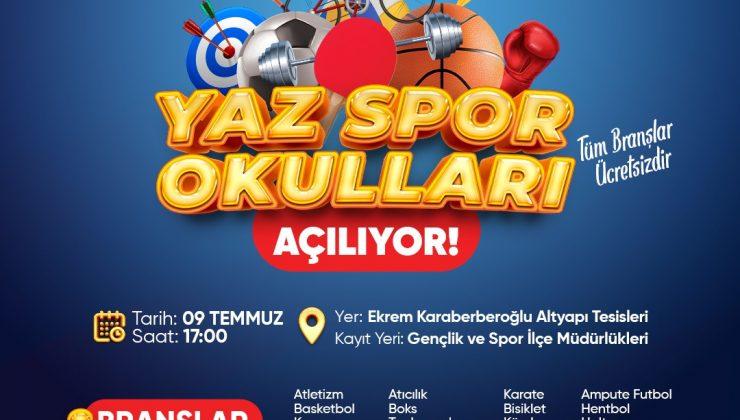 Sakaryaspor Yaz Spor Okulları'nın açılışında