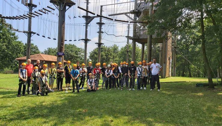 Macera Park 300 kişilik öğrenci grubunu ağırladı