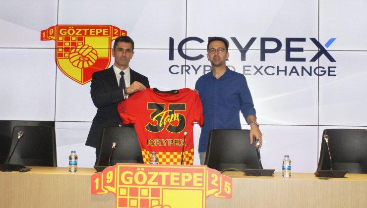 Göztepe'nin Forma Kol Sponsoru ICRYPEX Oldu!    Kripto para borsası ICRYPEX, Göztepe ile iş birlikteliği anlaşması imzaladı.
