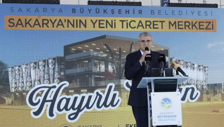 """Büyükşehir projenin tanıtımını yaptı  """"Sakarya Ticaret Merkezi şehrin sembolü olacak"""""""