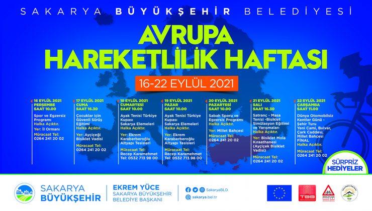 Sakarya'da Avrupa Hareketlilik Haftası bir dizi etkinlikle geçecek
