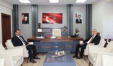 Başkan Ekrem Yüce, Milli Eğitim Müdürü Savaşçı'yı ziyaret etti