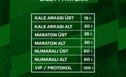Sakaryaspor-Sarıyer maçının biletleri satışa çıkıyor