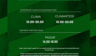 Sakaryaspor-Bodrumspor maçının biletleri açıklandı