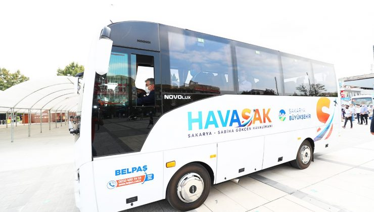 Sakarya'nın yolcusu, bu hizmetten çok memnun  Büyükşehir HAVASAK, 53 bin yolcuyu Sabiha Gökçen'e taşıdı