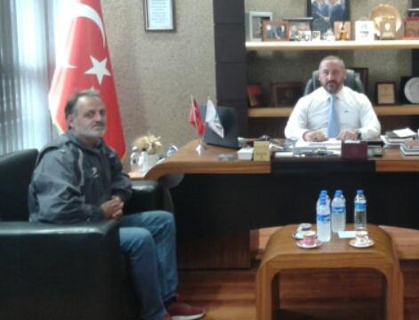 Mütahitler birliği başkanı Murat Bayrak'ı ziyaret ettik