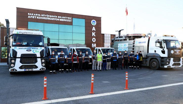 Başkan Ekrem Yüce talimatı verdi;  Sakarya'dan afet bölgesine destek ekipler gönderildi