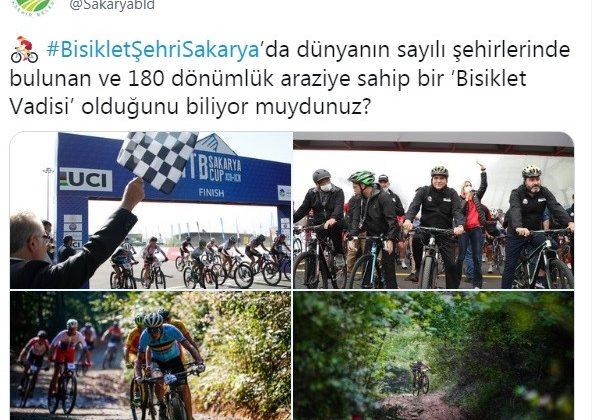 #BisikletŞehriSakarya Türkiye gündeminde