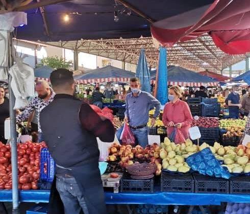 Dikbayır Pazartesi pazarını ziyaret etti